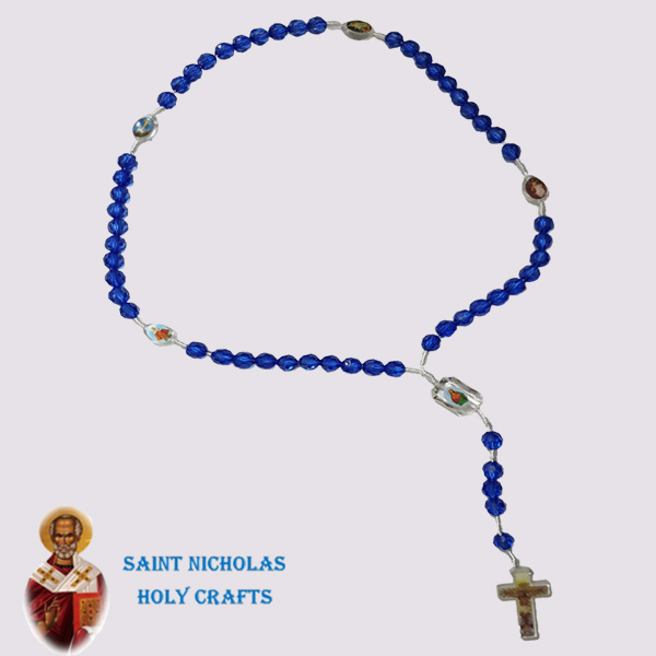 Olive-Wood-Saint-Nicholas-Holy-Crafts-Glass -Rosary-with Icons