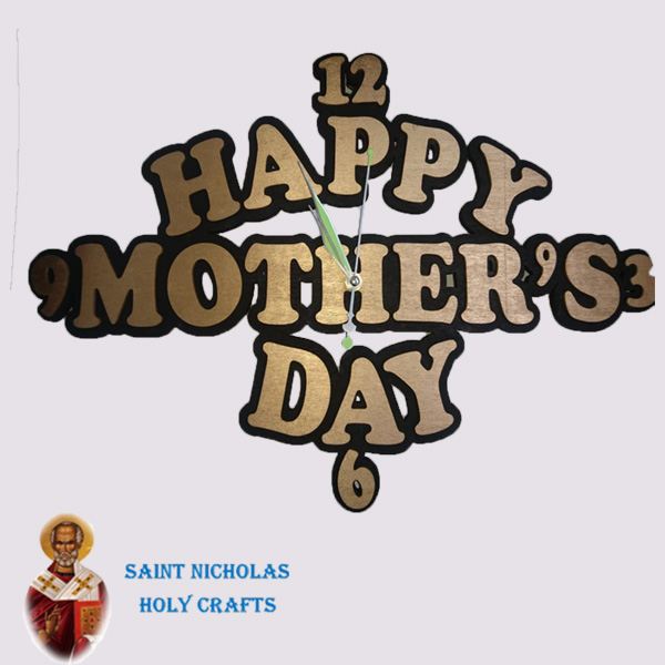 Olive-Wood-Saint-Nicholas-Holy-Crafts-Olive-Mother's-Day.-Wall-Clock