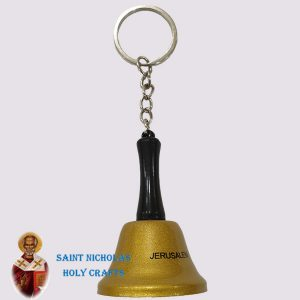 Olive-Wood-Saint-Nicholas-Holy-Crafts-Bell-Key-Chain