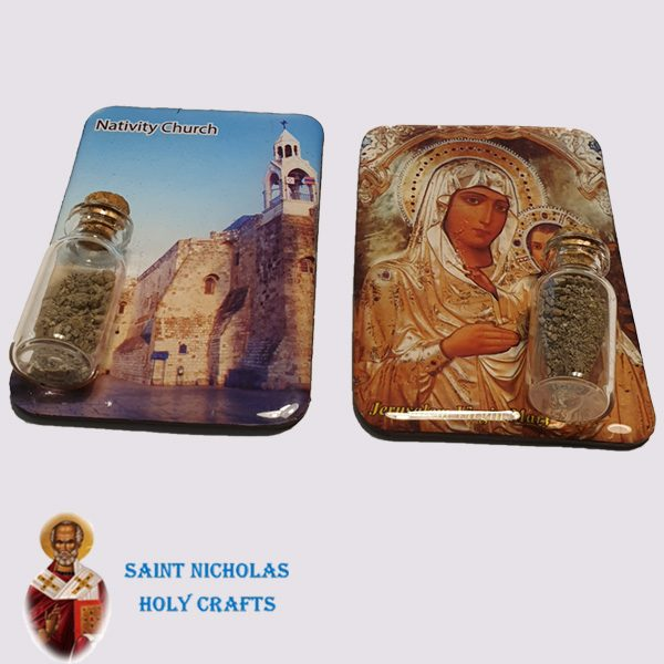 Olive-Wood-Saint-Nicholas-Holy-Crafts-Magnet-With-Earth