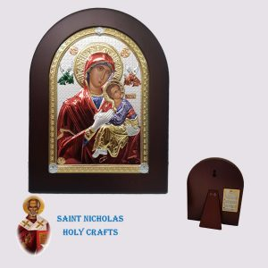 Olive-Wood-Saint-Nicholas-Holy-Crafts-Olive-Wood-Amolyntos-Nikolaus-Silver-Icon