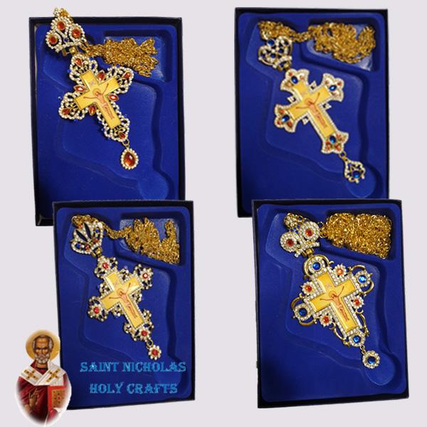Olive-Wood-Saint-Nicholas-Holy-Crafts-Olive-Wood-Golden-Bishop-Cross