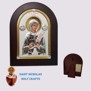 Olive-Wood-Saint-Nicholas-Holy-Crafts-Olive-Wood-Parascheva-Nikolaus-Silver-Icon