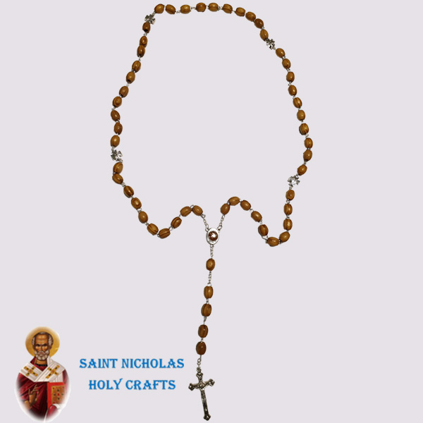 Olive-Wood-Saint-Nicholas-Holy-Crafts-Olive-Wood-Wire-Wood-Rosary-With-Pendents