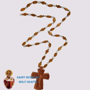 Olive-Wood-Saint-Nicholas-Holy-Crafts-Blessing-Cross-With-Necklace
