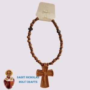 Olive-Wood-Saint-Nicholas-Holy-Crafts-Car-Rosary-With-Blessing-Cross-1