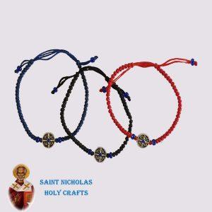 Olive-Wood-Saint-Nicholas-Holy-Crafts-Elastic-Thread-Bracelet-With-Icon