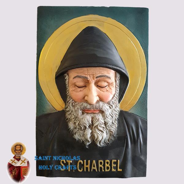 Olive-Wood-Saint-Nicholas-Holy-Crafts-Saint-Charbel-Hand-Painted-Icon