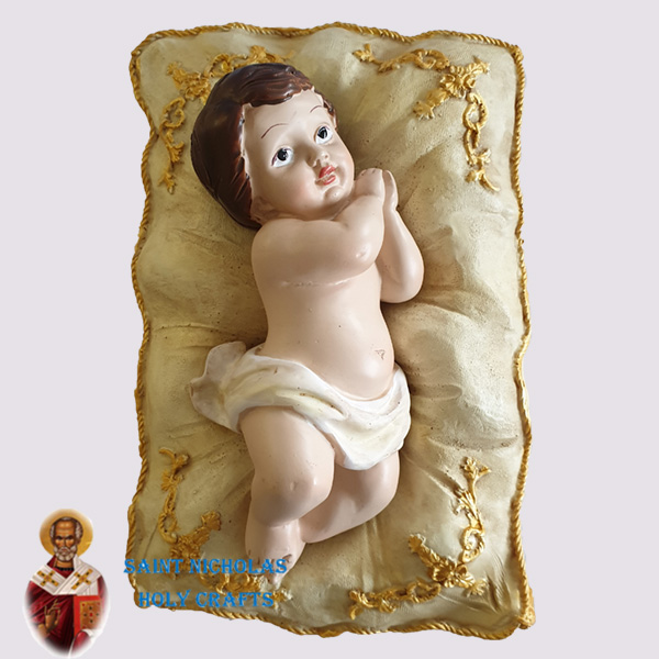 Olive-Wood-Saint-Nicholas-Holy-Crafts-Side-Lying-Baby-Jesus-With-Manger